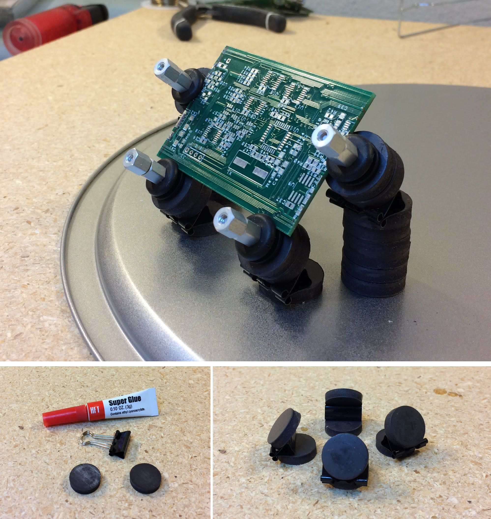 Poor Man's Magnetic PCB Holder – Every Expense Spared
